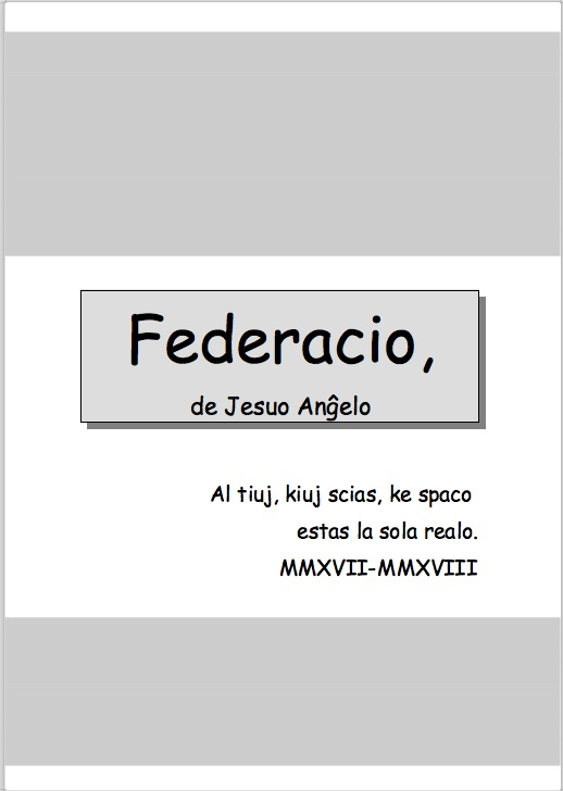 Cover of Federation.